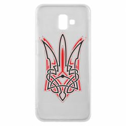Чехол для Samsung J6 Plus 2018 Red and black coat of arms of Ukraine