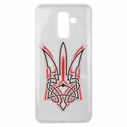 Чехол для Samsung J8 2018 Red and black coat of arms of Ukraine