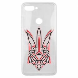 Чехол для Xiaomi Mi8 Lite Red and black coat of arms of Ukraine