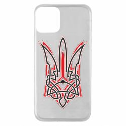 Чехол для iPhone 11 Red and black coat of arms of Ukraine