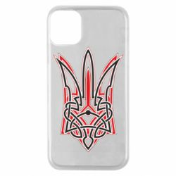 Чехол для iPhone 11 Pro Red and black coat of arms of Ukraine