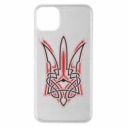 Чехол для iPhone 11 Pro Max Red and black coat of arms of Ukraine