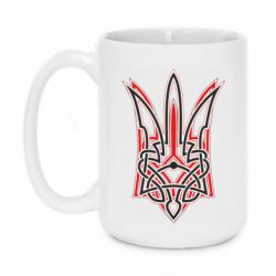 Кружка 420ml Red and black coat of arms of Ukraine