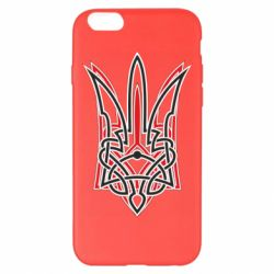 Чехол для iPhone 6 Plus/6S Plus Red and black coat of arms of Ukraine