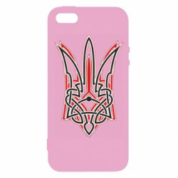Чехол для iPhone5/5S/SE Red and black coat of arms of Ukraine