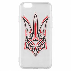 Чехол для iPhone 6/6S Red and black coat of arms of Ukraine