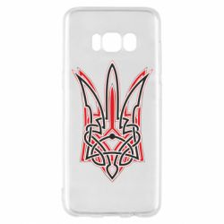Чехол для Samsung S8 Red and black coat of arms of Ukraine