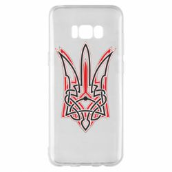 Чехол для Samsung S8+ Red and black coat of arms of Ukraine