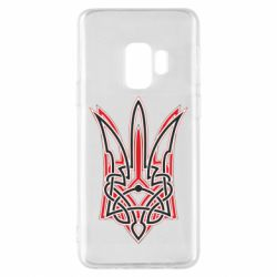 Чехол для Samsung S9 Red and black coat of arms of Ukraine