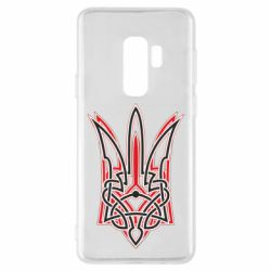 Чехол для Samsung S9+ Red and black coat of arms of Ukraine