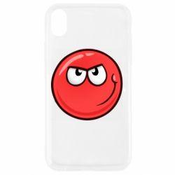Чехол для iPhone XR Red Ball game