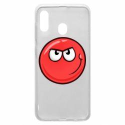 Чехол для Samsung A20 Red Ball game