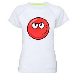 Жіноча спортивна футболка Red Ball game