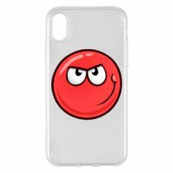 Чехол для iPhone X/Xs Red Ball game