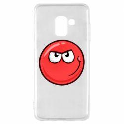 Чехол для Samsung A8 2018 Red Ball game