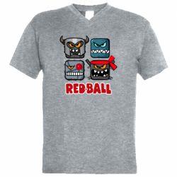 Чоловіча футболка з V-подібним вирізом Red ball heroes