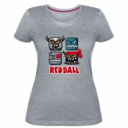 Жіноча стрейчева футболка Red ball heroes