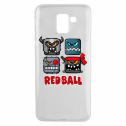 Чехол для Samsung J6 Red ball heroes