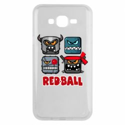 Чехол для Samsung J7 2015 Red ball heroes