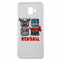 Чехол для Samsung J6 Plus 2018 Red ball heroes
