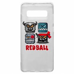 Чехол для Samsung S10+ Red ball heroes