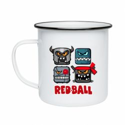 Кружка емальована Red ball heroes