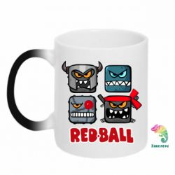 Кружка-хамелеон Red ball heroes