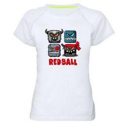 Жіноча спортивна футболка Red ball heroes