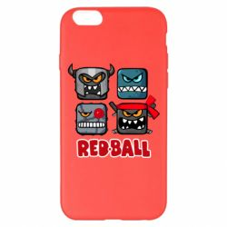 Чехол для iPhone 6 Plus/6S Plus Red ball heroes