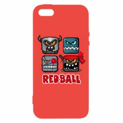 Чохол для iphone 5/5S/SE Red ball heroes