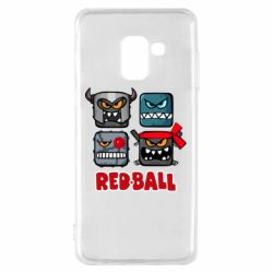 Чехол для Samsung A8 2018 Red ball heroes
