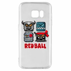 Чехол для Samsung S7 Red ball heroes