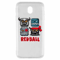 Чехол для Samsung J7 2017 Red ball heroes