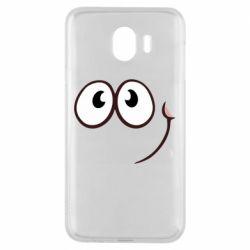 Чохол для Samsung J4 Red ball smile