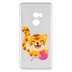 Чехол для Xiaomi Mi Mix 2 Red cat with a clew