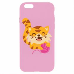 Чехол для iPhone 6 Plus/6S Plus Red cat with a clew