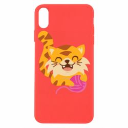Чехол для iPhone X/Xs Red cat with a clew