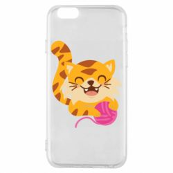 Чехол для iPhone 6/6S Red cat with a clew