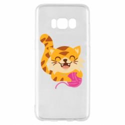 Чехол для Samsung S8 Red cat with a clew