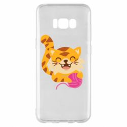 Чехол для Samsung S8+ Red cat with a clew