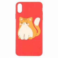Чехол для iPhone Xs Max Red cat with stripes