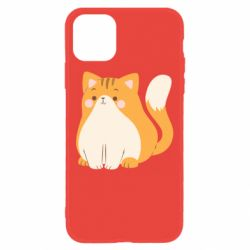 Чехол для iPhone 11 Red cat with stripes
