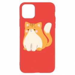 Чехол для iPhone 11 Pro Max Red cat with stripes
