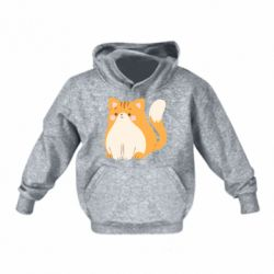 Детская толстовка Red cat with stripes