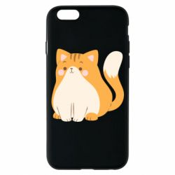 Чехол для iPhone 6/6S Red cat with stripes