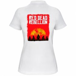Жіноча футболка поло Red dead rebellion