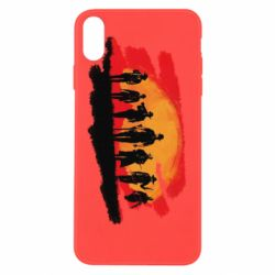 Чохол для iPhone Xs Max Red Dead Redemption 2 Cowboys Silhouette