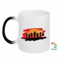Кружка-хамелеон Red Dead Redemption 2 Cowboys Silhouette
