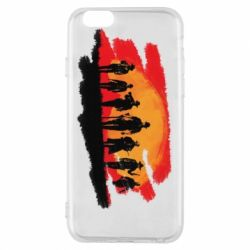 Чохол для iPhone 6/6S Red Dead Redemption 2 Cowboys Silhouette