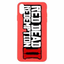 Чохол для iPhone X/Xs Red Dead Redemption logo